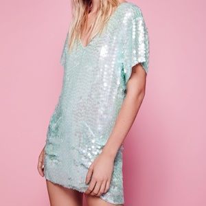 Free People surry Embellished clubbin dress pocket